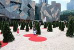 Synthetic grass in Fed Square